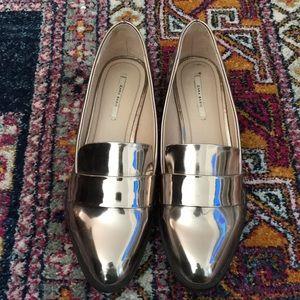 Zara metallic loafers